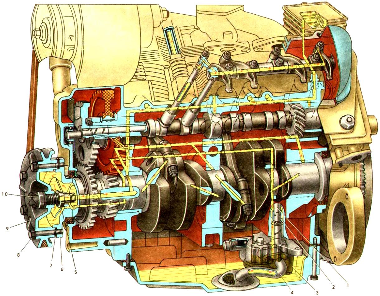 Клапанный механизм ЗАЗ-968М